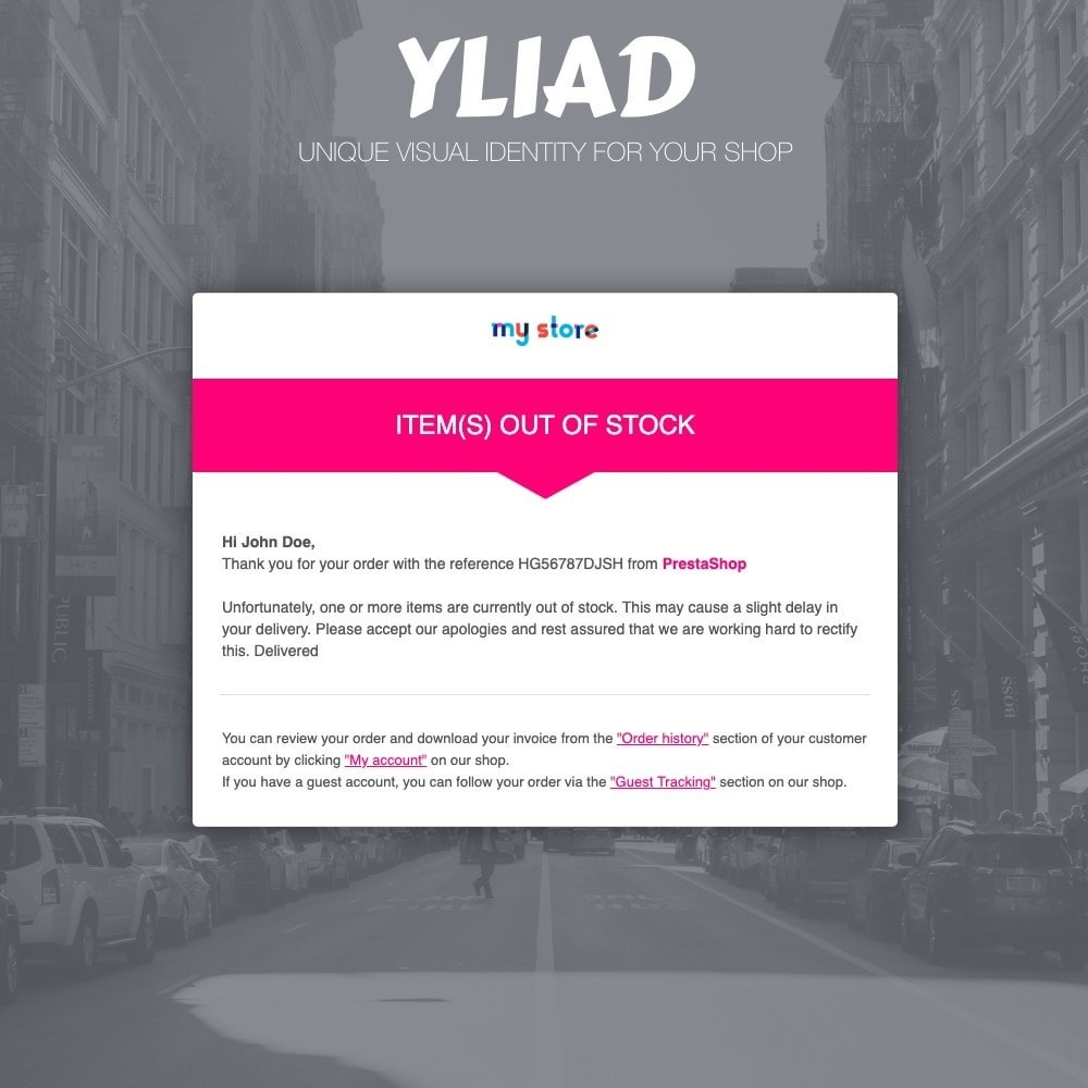 email - E-mailtemplates van PrestaShop - Yliad - Professional and responsive email templates - 3