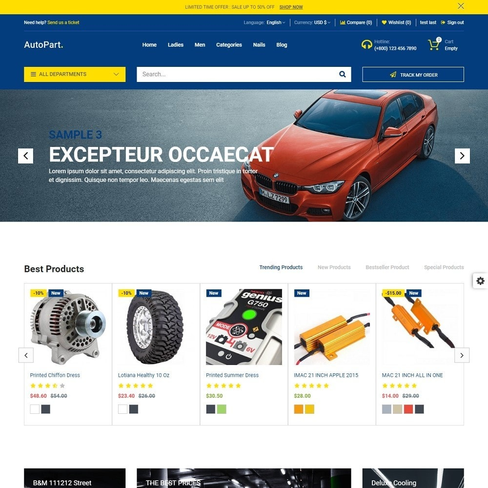 theme - Auto & Moto - Autopart and Tools Stores - 3