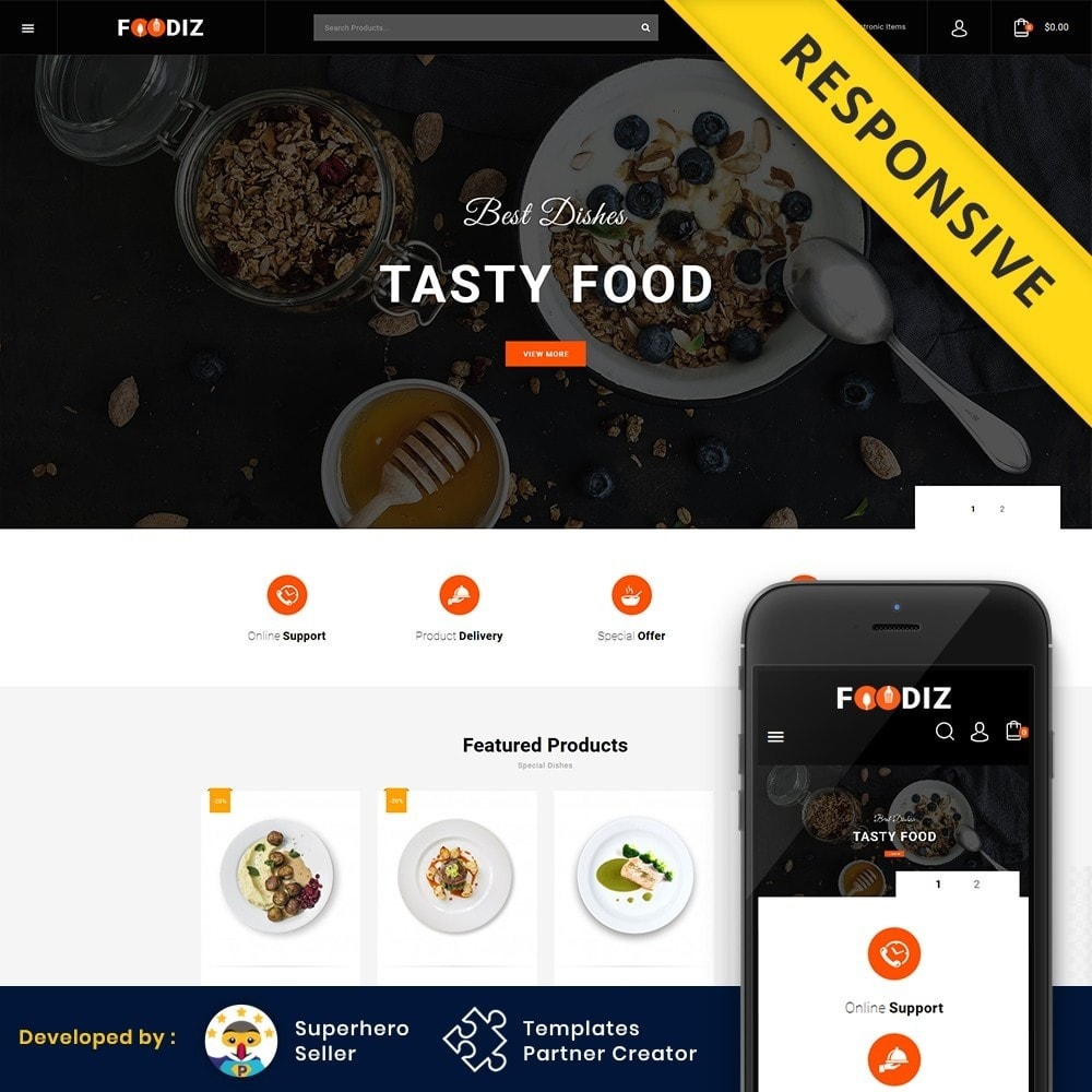 theme - Alimentos & Restaurantes - Foodiz - Restaurants Store - 1