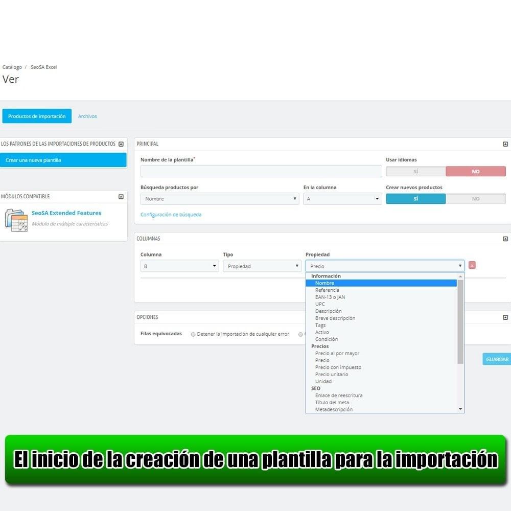 module - Importación y Exportación de datos - Importar producto de la versión Microsoft Excel Lite - 3