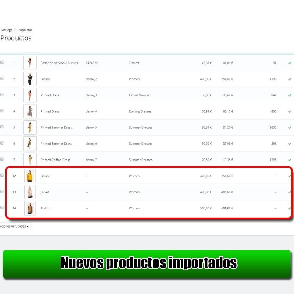 module - Importación y Exportación de datos - Importar producto de la versión Microsoft Excel Lite - 7
