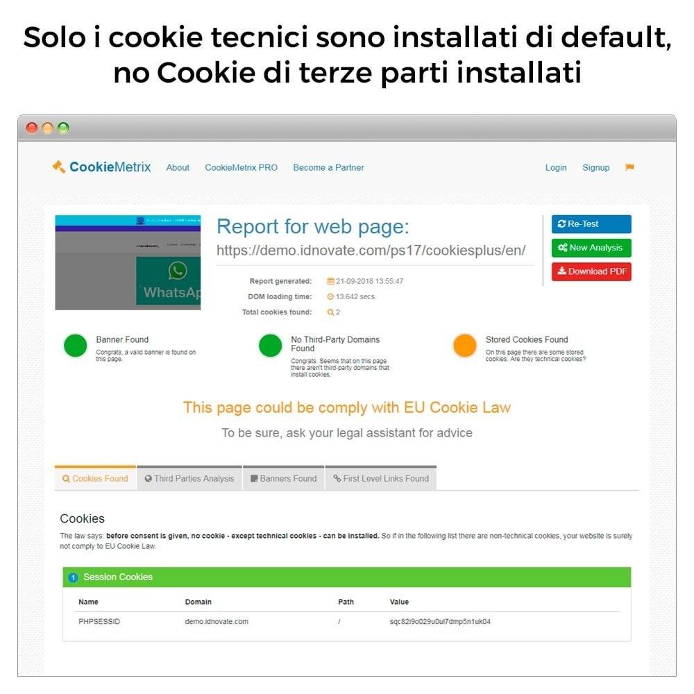 module - Legale (Legge Europea) - Legge Cookie GDPR (blocca cookie di terze parti) - 8