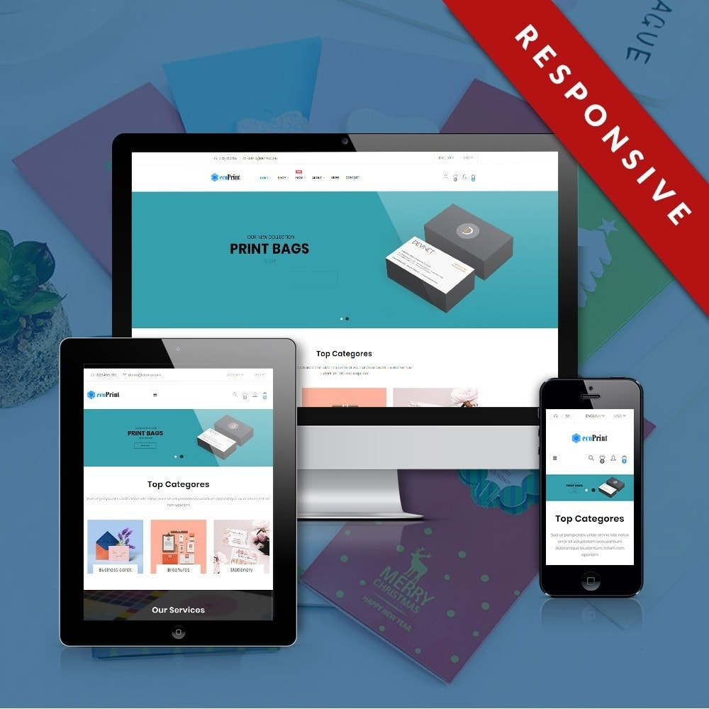 theme - Cadeaus, Bloemen & Gelegenheden - ecoPrint Shop - Responsive Printing Theme - 1