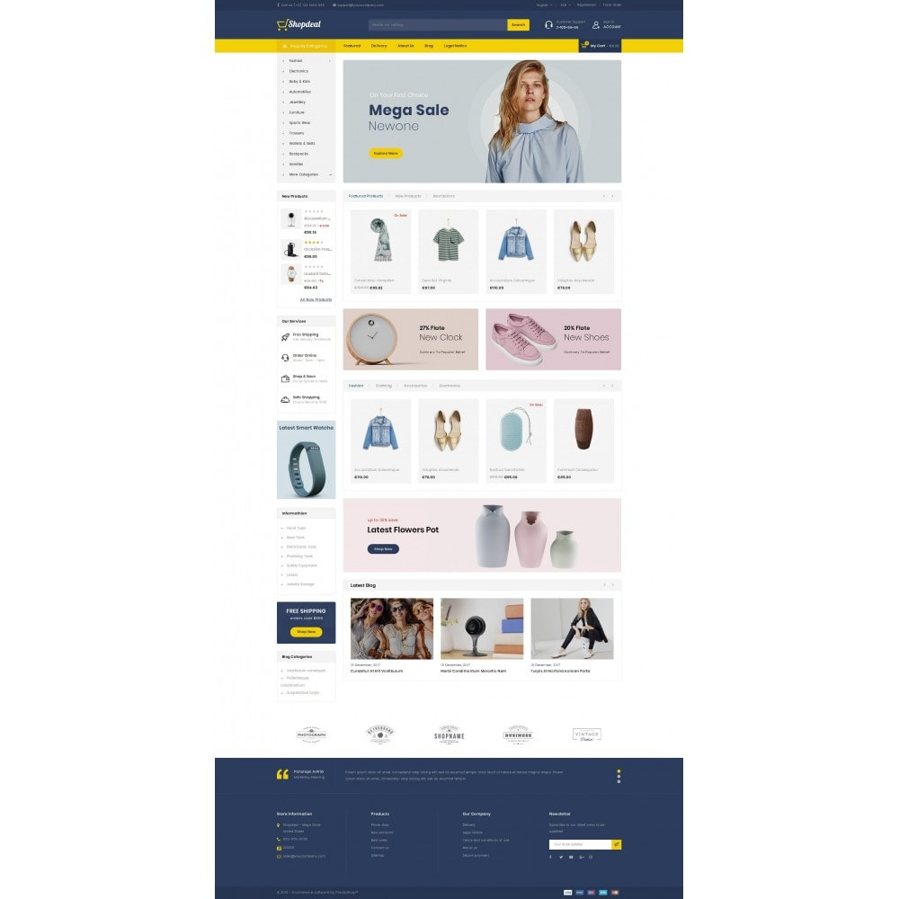 theme - Fashion & Shoes - ShopDeal - Mega Store - 2