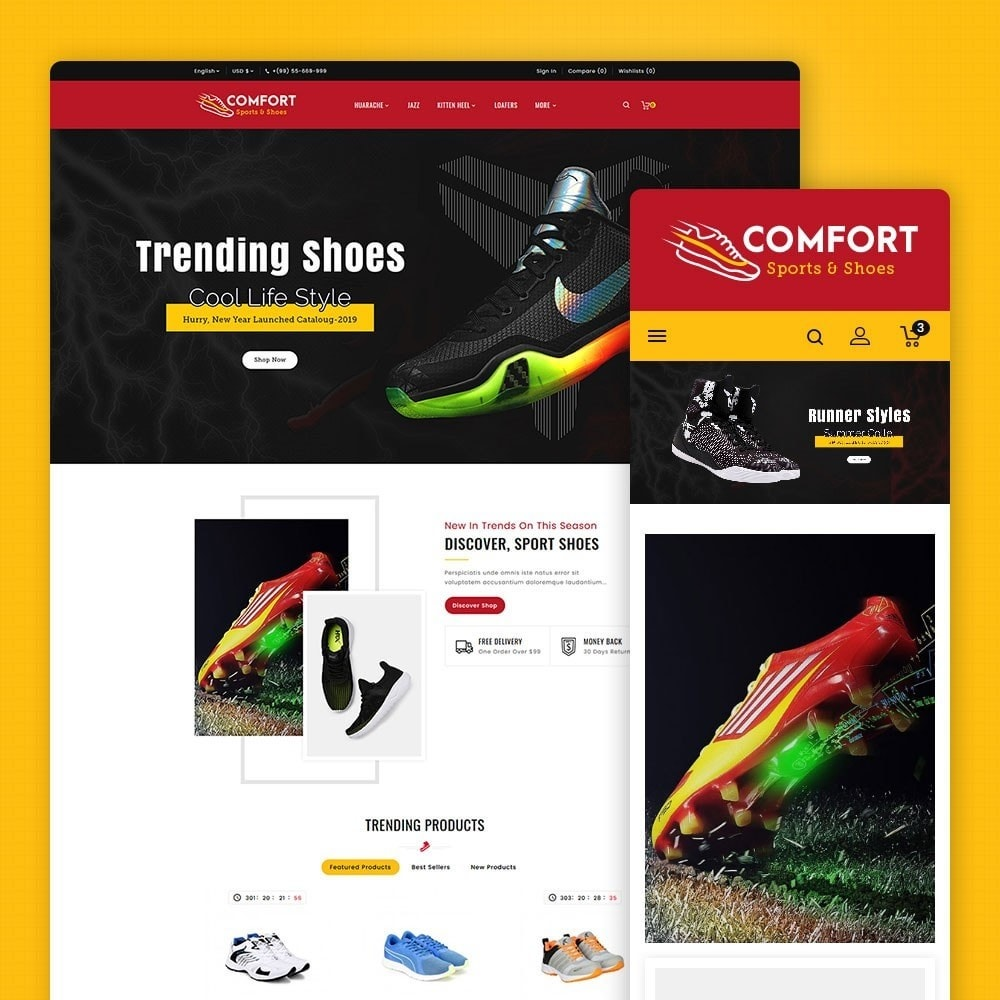 theme - Mode & Schuhe - Comfort - Sports & Shoes - 1