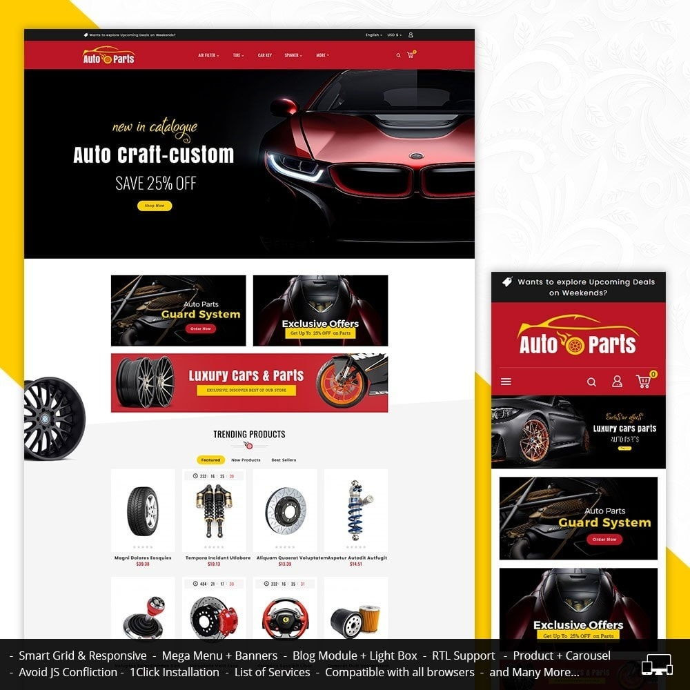 theme - Automotive & Cars - Auto Parts & Automotive - 1