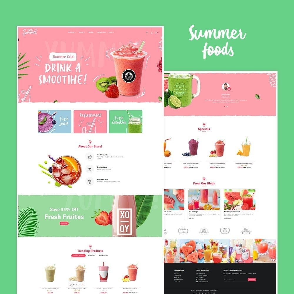 theme - Drink & Wine - Summer Food & Drink Shakes - 2