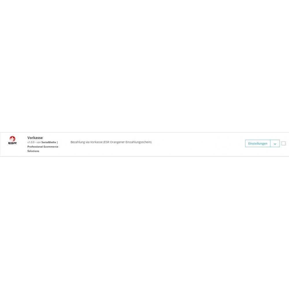 module - Formas de Pagamento Alternativas - ESR/ISR Orange Inpayment Slip Payment - 3
