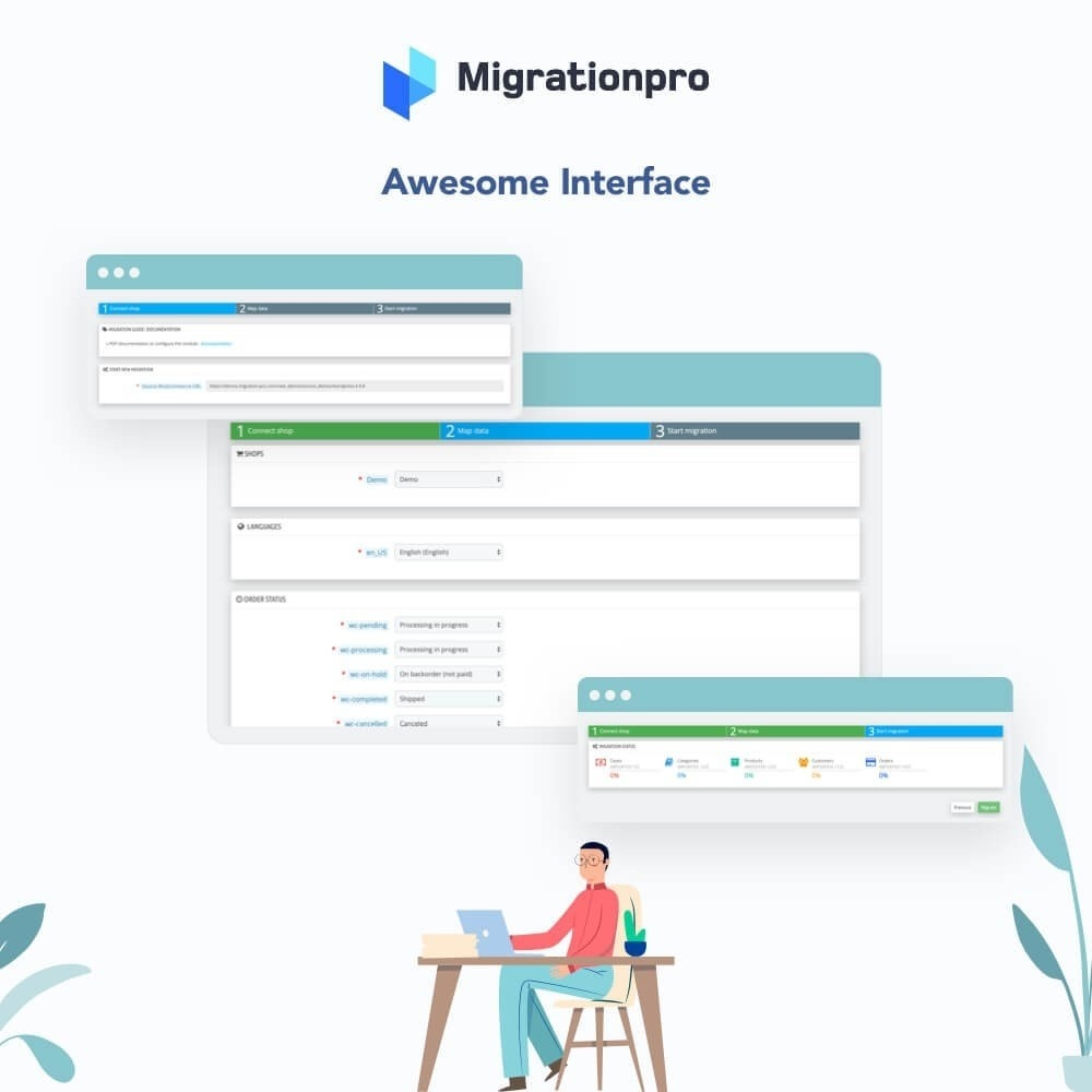 module - Migración y Copias de seguridad - MigrationPro: WP eStore to PrestaShop Migration tool - 6