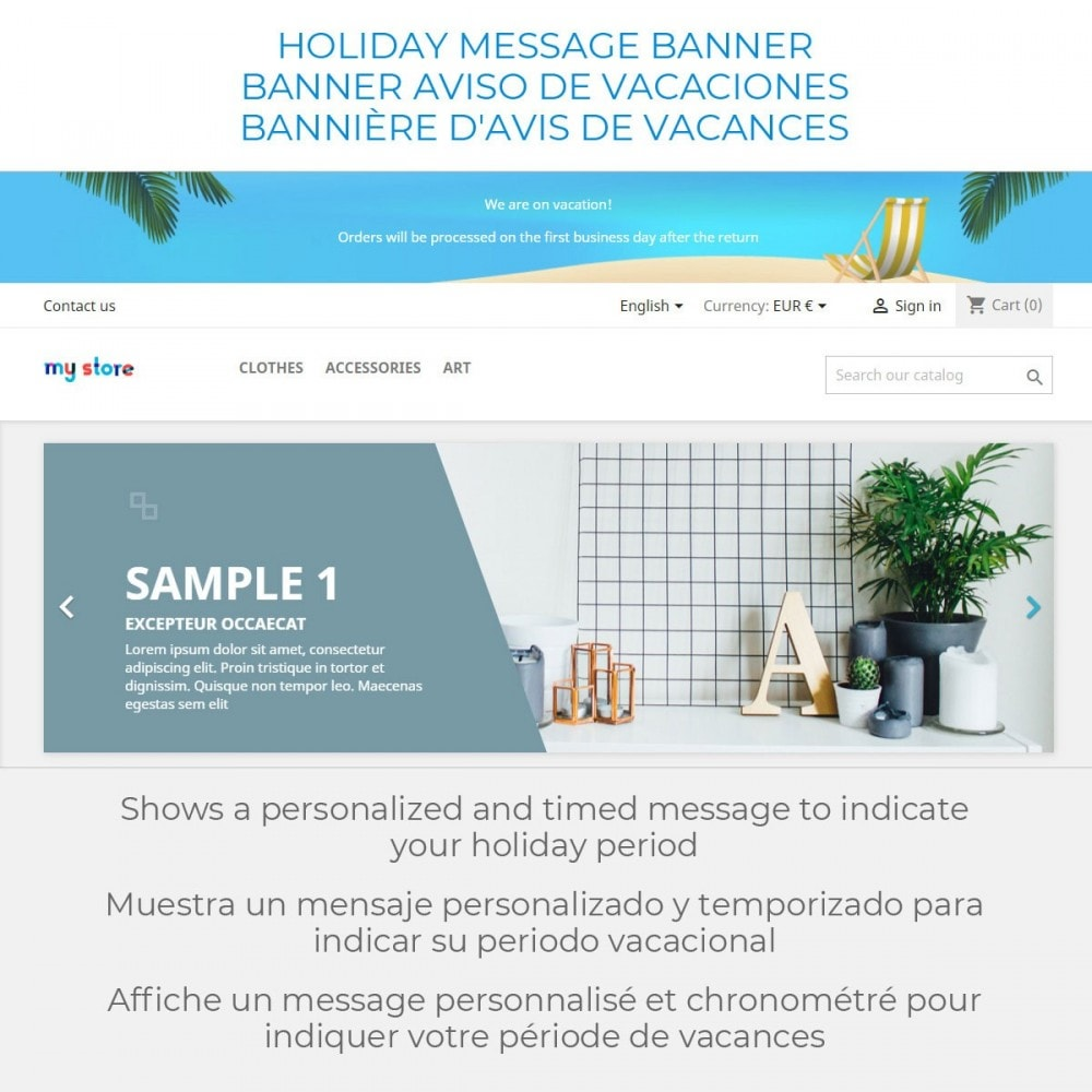 module - Customer Service - Message on Holiday - 2