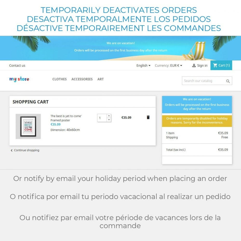 module - Customer Service - Message on Holiday - 4