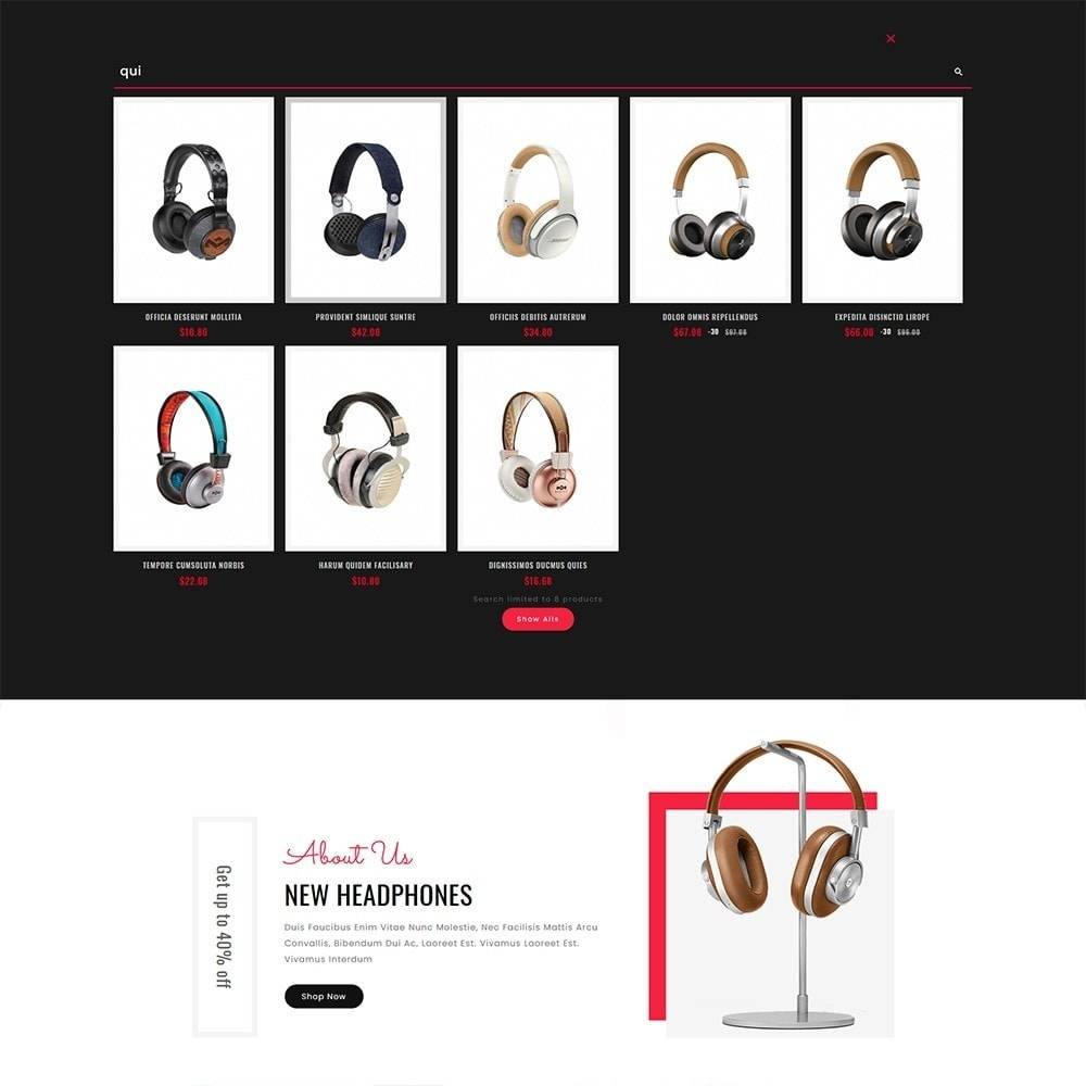 theme - Elektronik & High Tech - High Volt - Headphone Shop - 10