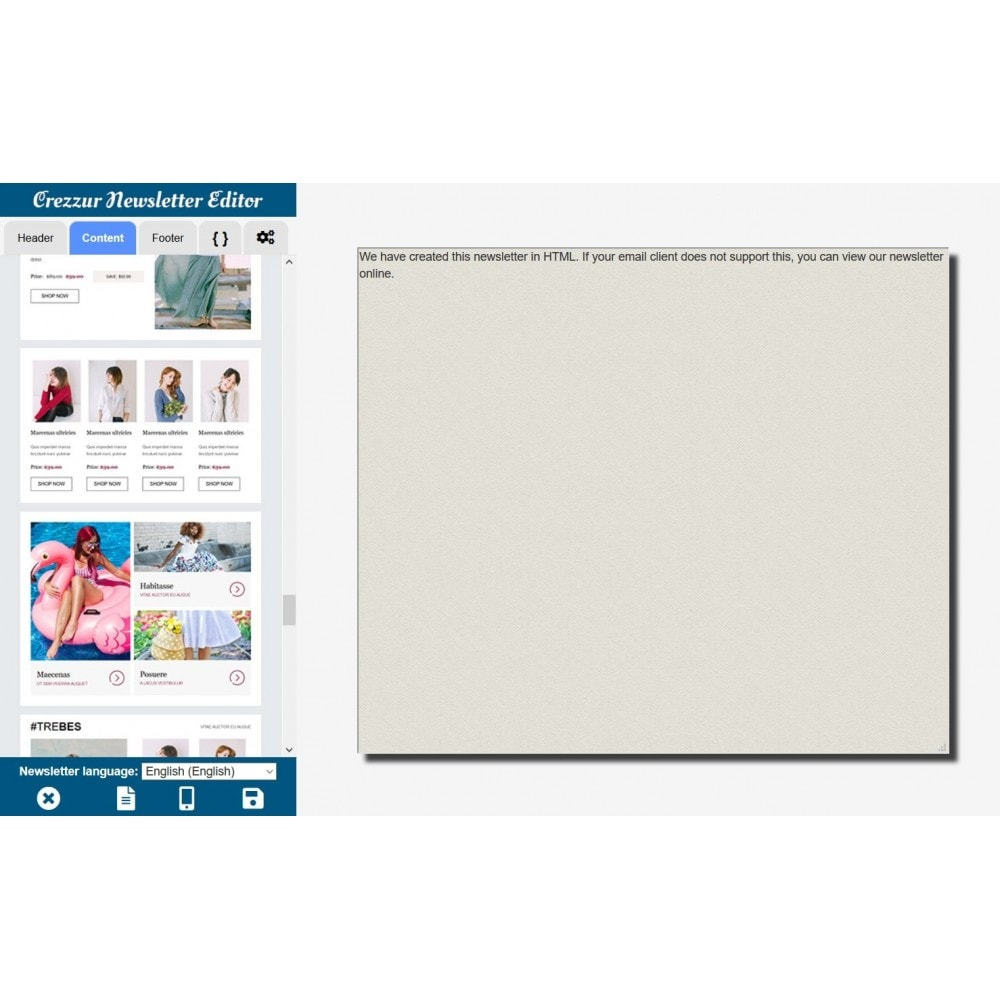module - Nieuwsbrief & SMS - Nieuwsbrief Ontwerpen En Versturen - Drag & Drop - 6
