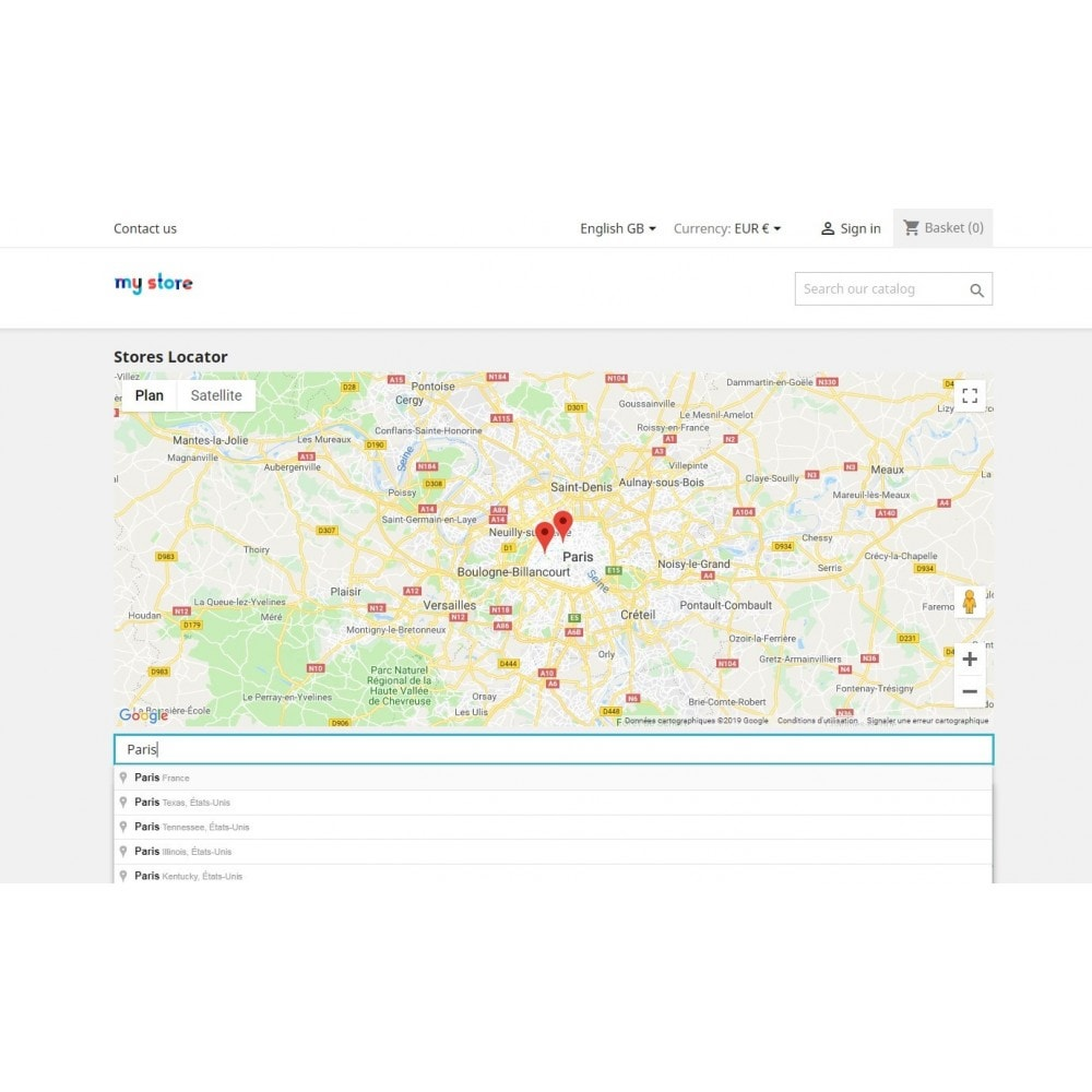 module - Lingue & Traduzioni - Stores map with Google Maps - 1