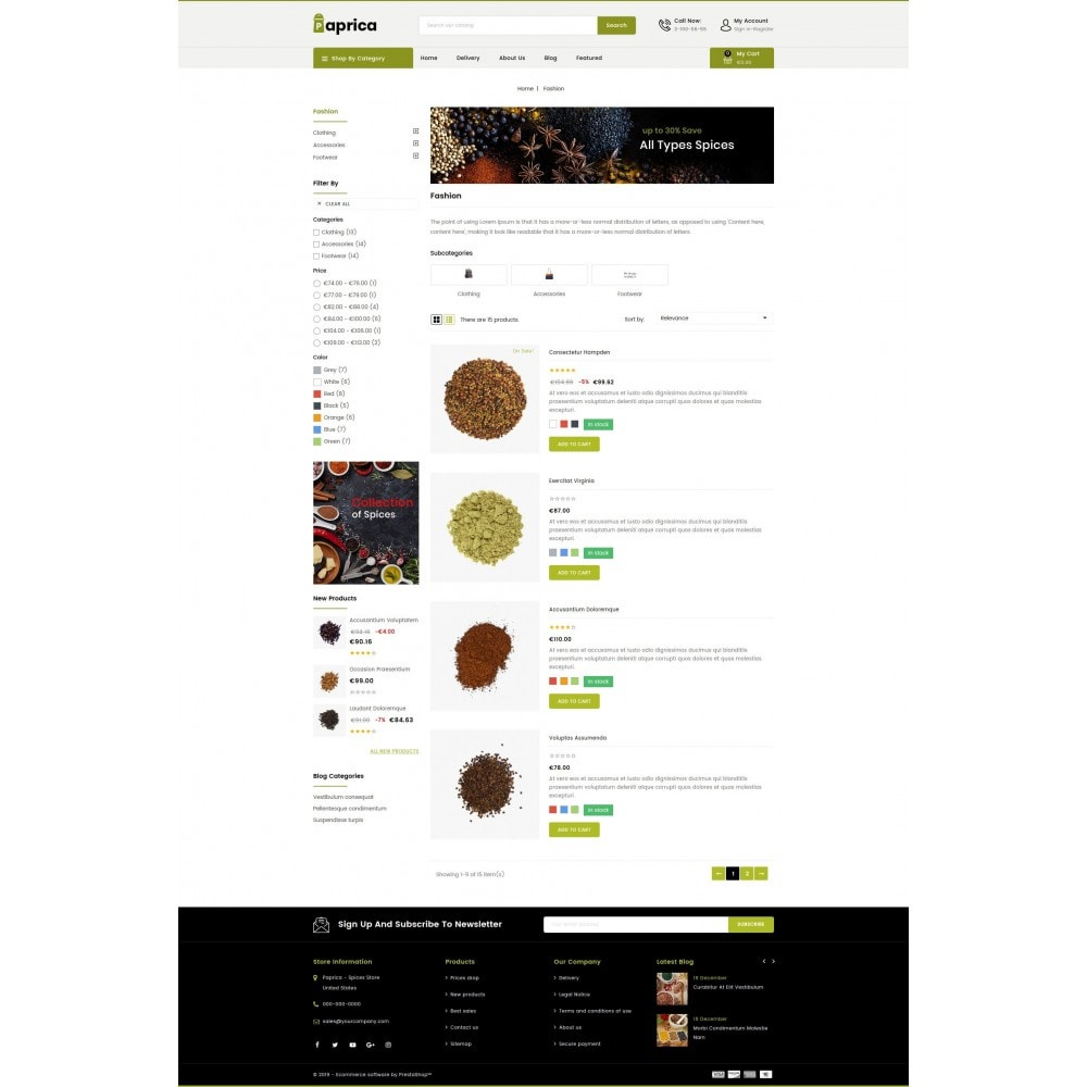 theme - Food & Restaurant - Paprica - Spice Store - 4