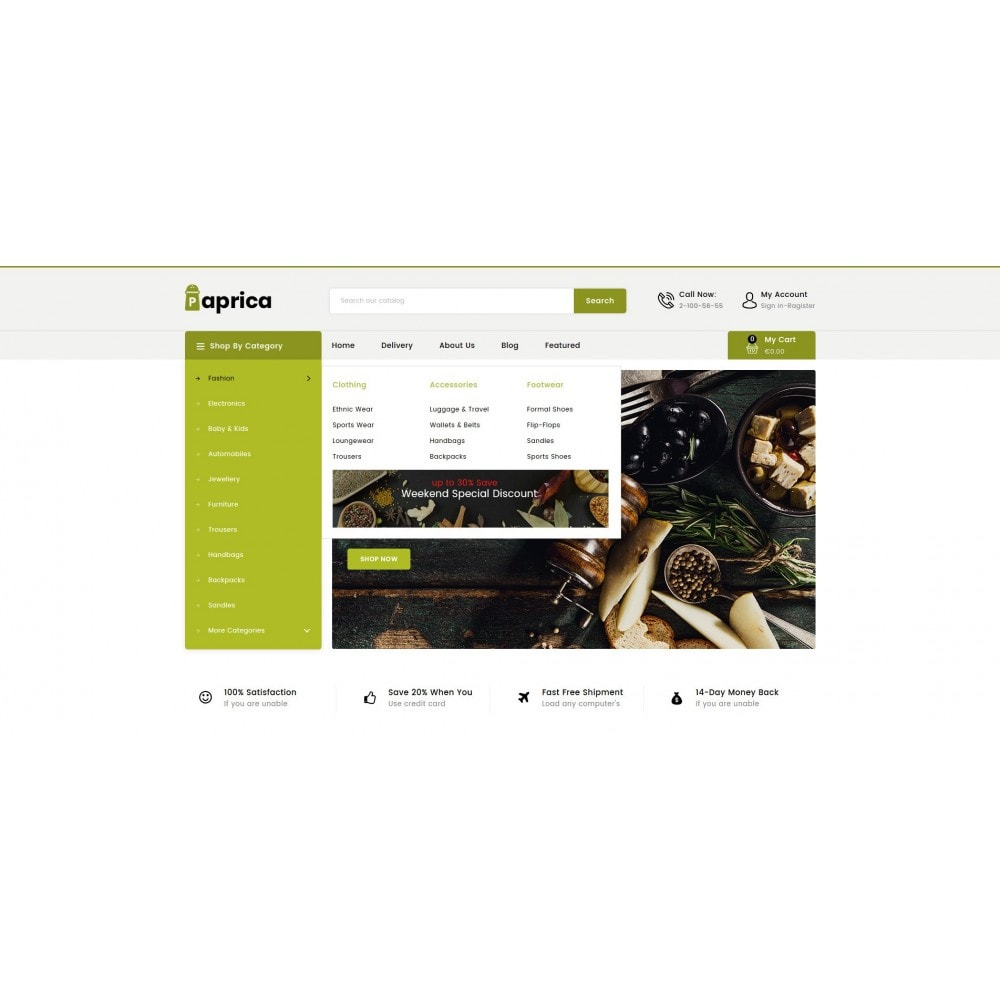 theme - Food & Restaurant - Paprica - Spice Store - 7