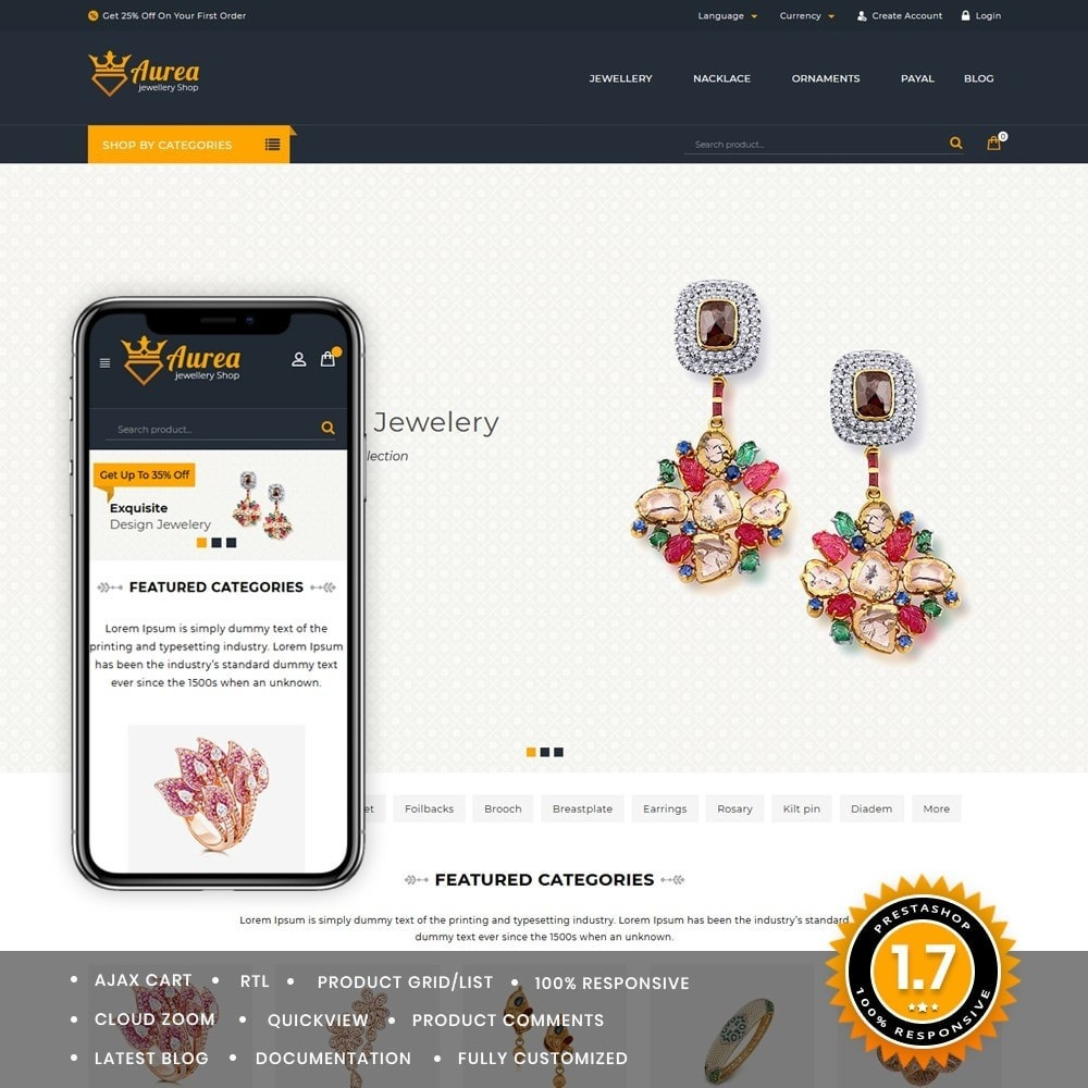 theme - Jewelry & Accessories - Aurea The Jewellery Store - 1