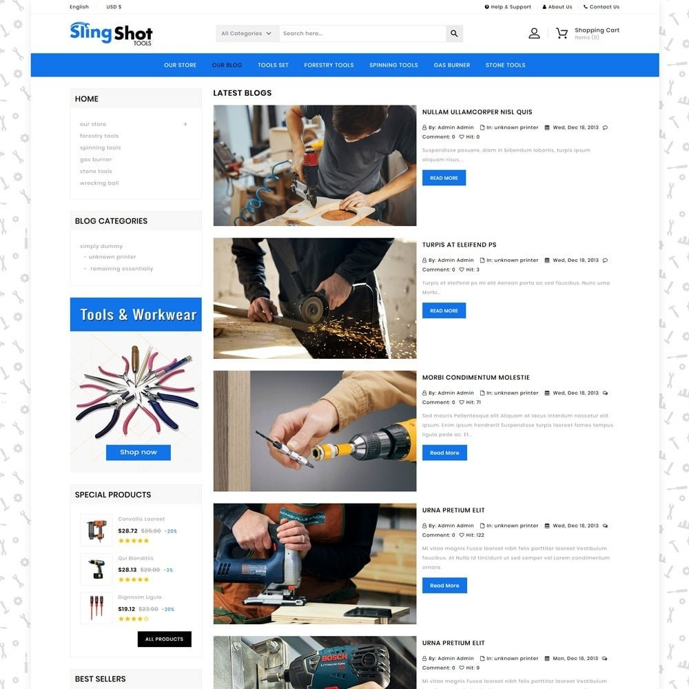 theme - Automotive & Cars - Slinshot - The Tool Store - 7