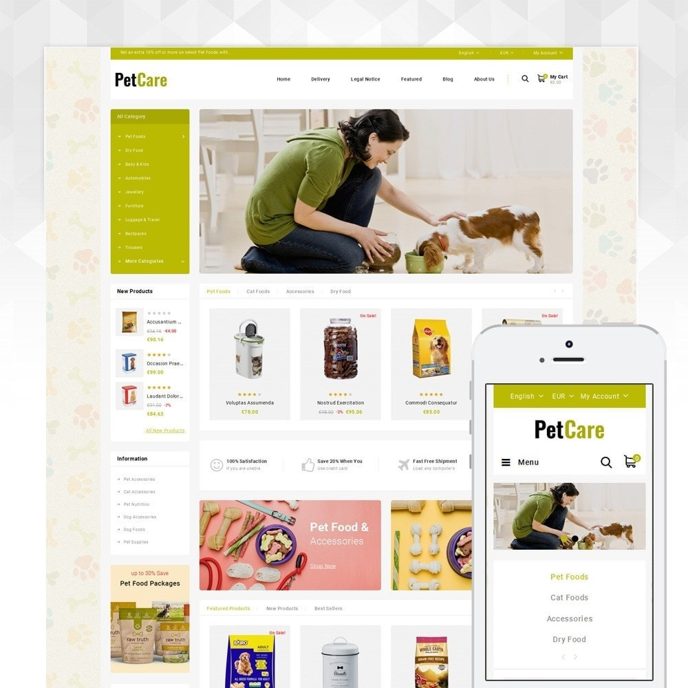 theme - Animaux - Petcare - Pets Food Store - 1
