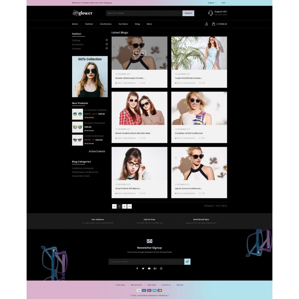 theme - Fashion & Shoes - Glower Goggles Store - 9