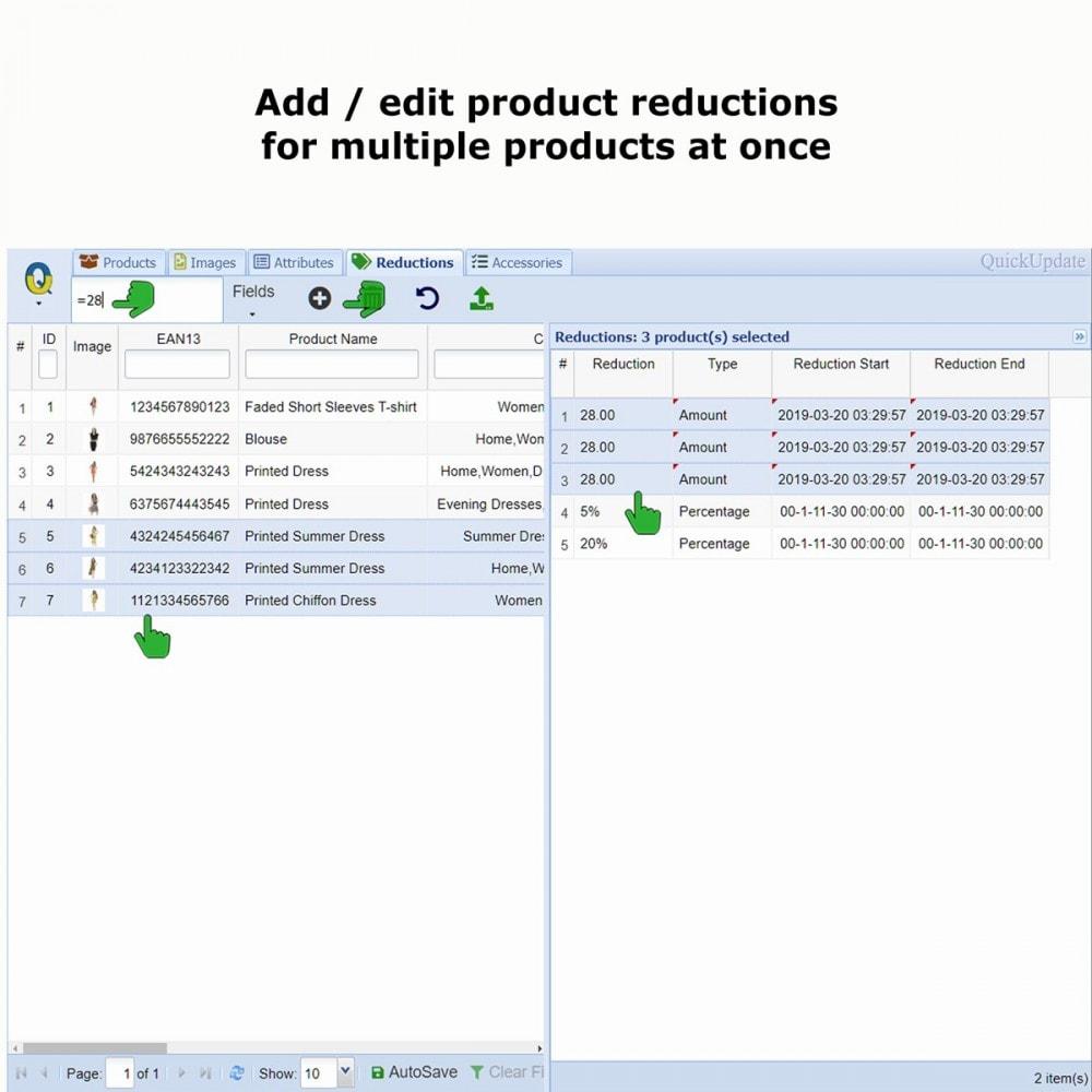 module - Edición Rápida y Masiva - QuickUpdate Products Manager LITE - 9