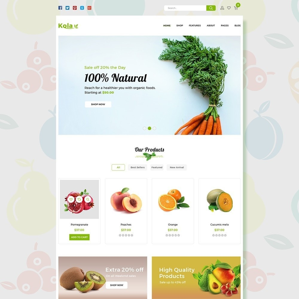 theme - Alimentation & Restauration - Kola – Organic & Food Store - 1