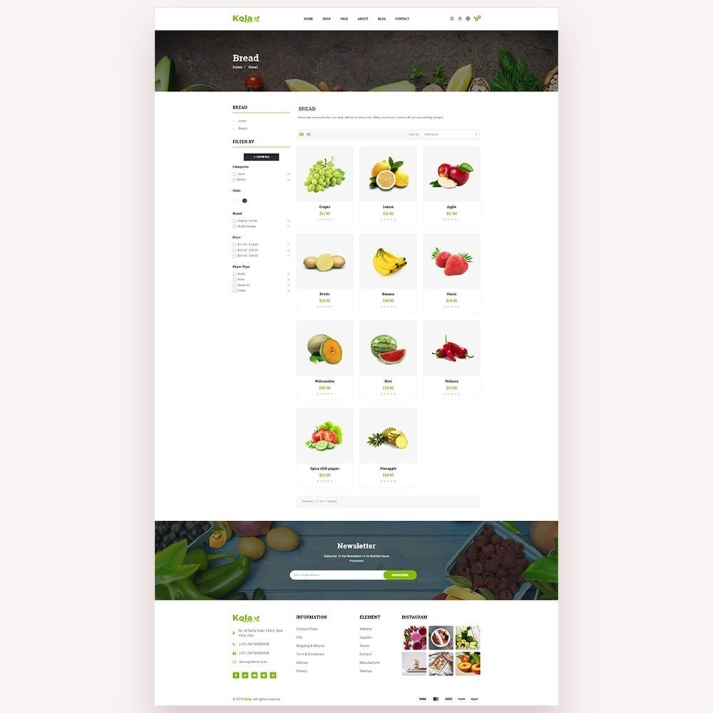 theme - Alimentation & Restauration - Kola – Organic & Food Store - 4