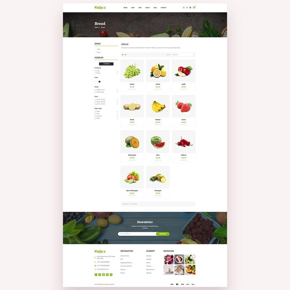 theme - Gastronomía y Restauración - Kola – Organic & Food Store - 4