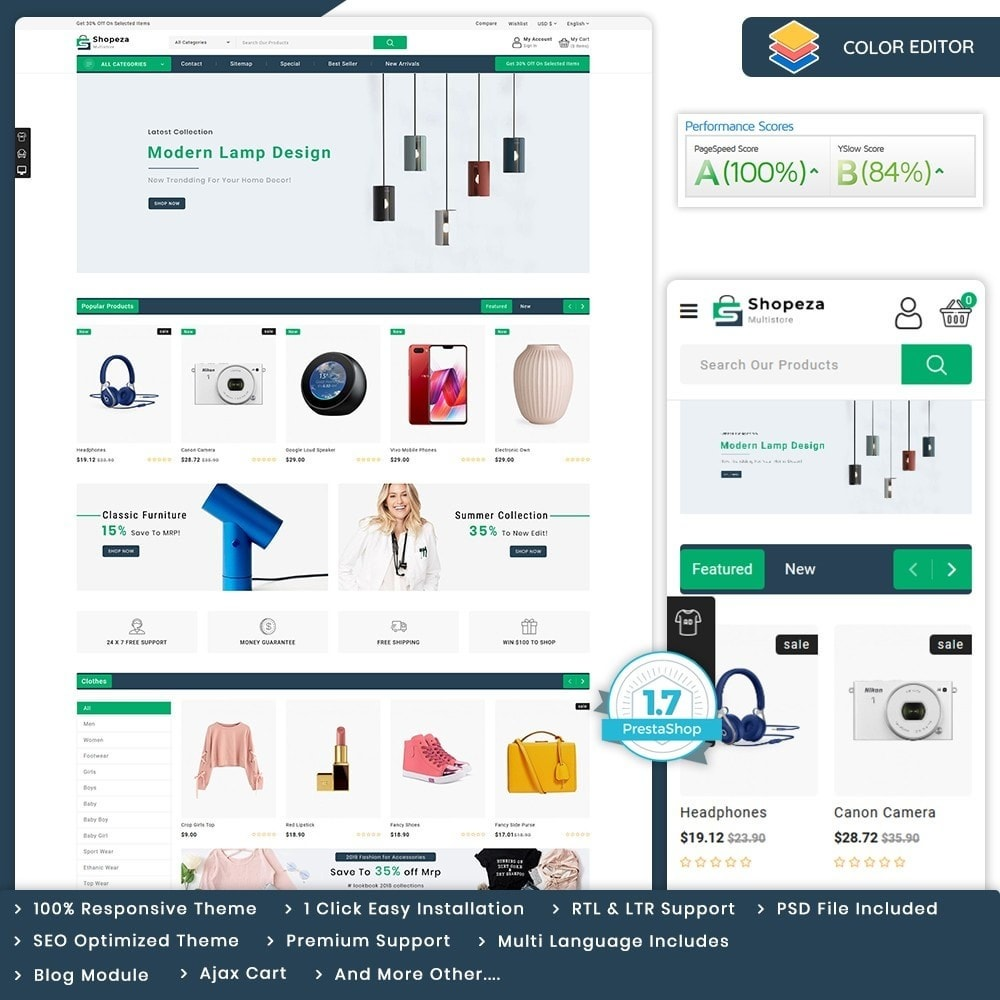 theme - Electronics & Computers - shopeza - The MultiStore Theme - 1