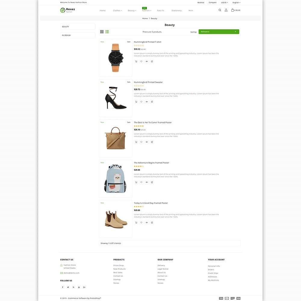 theme - Fashion & Shoes - Rexez - The Best Fashion Store - 4