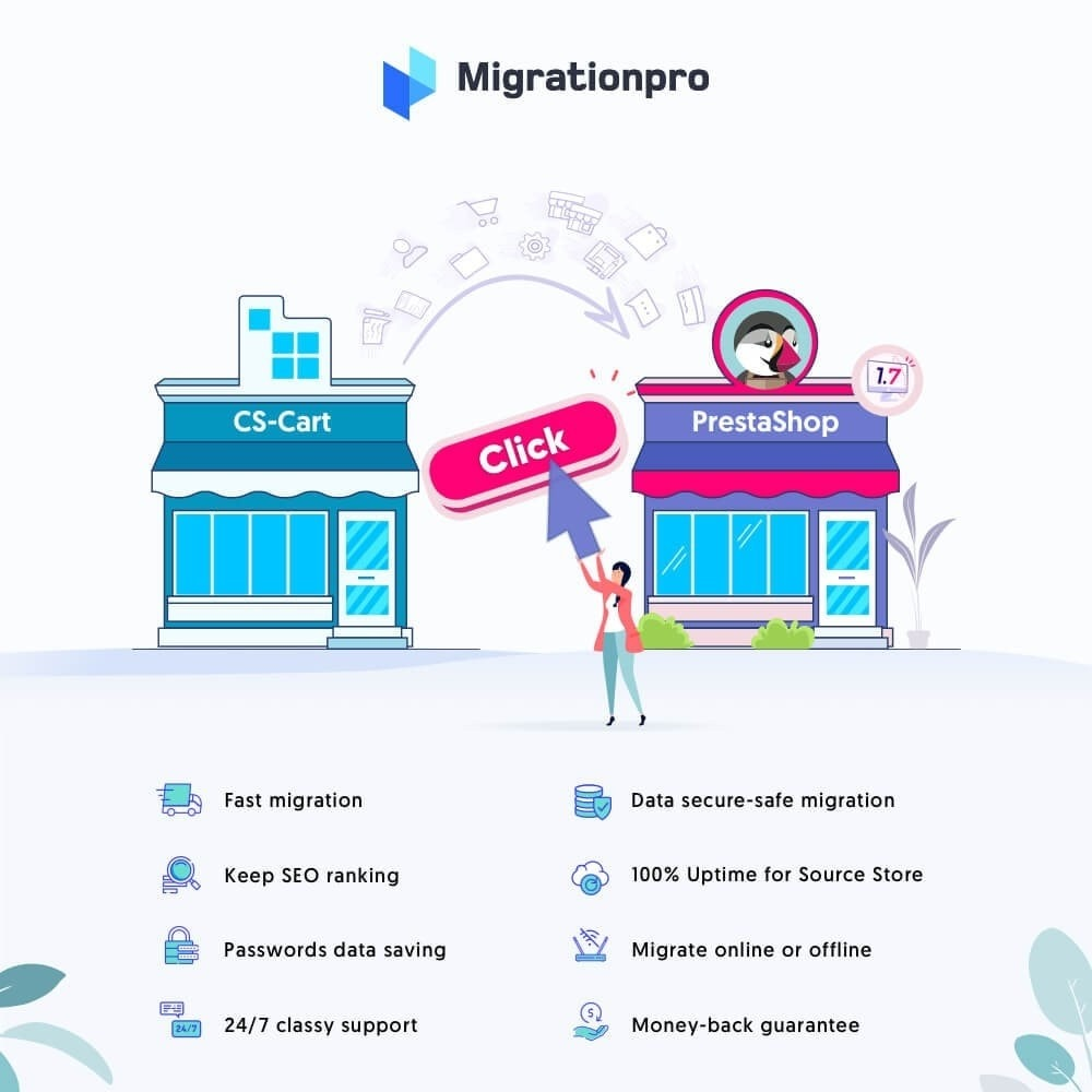 module - Migratie & Backup - MigrationPro: CS-Cart to PrestaShop Migration tool - 1
