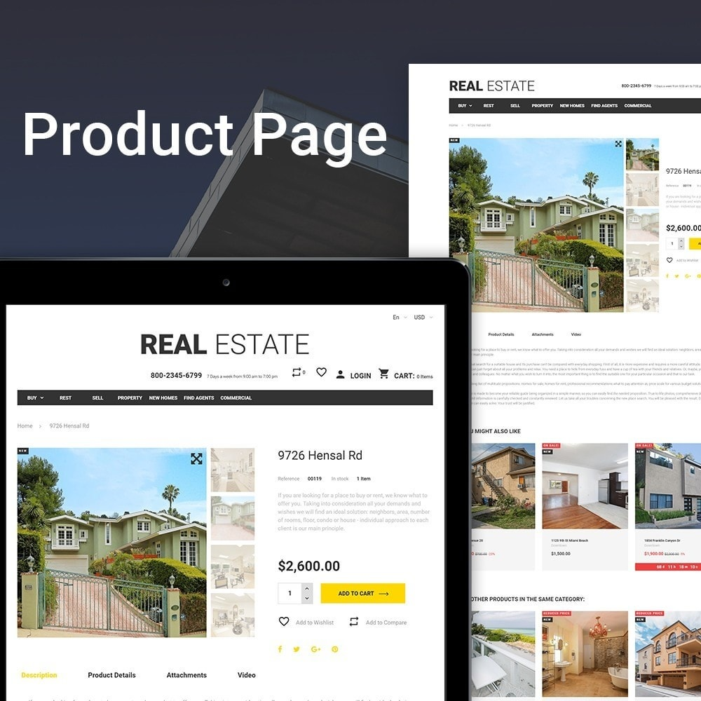 theme - Hogar y Jardín - Real Estate - Business Store - 3