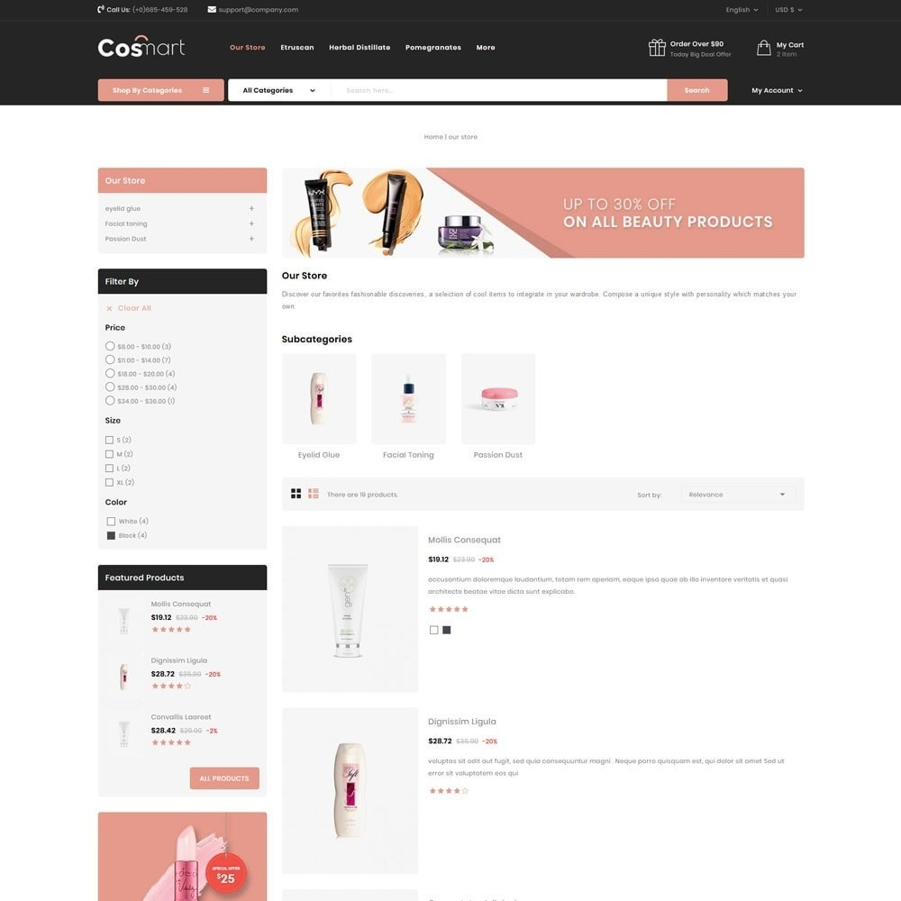 theme - Joalheria & Acessórios - Cosmart - The Cosmetic Mega Store - 7