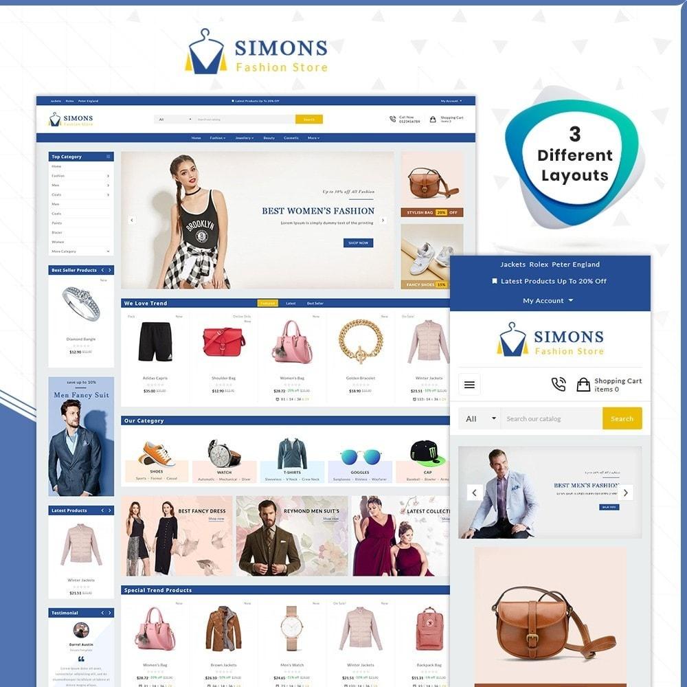 theme - Fashion & Shoes - Moda Simons - Fashion Store - 1