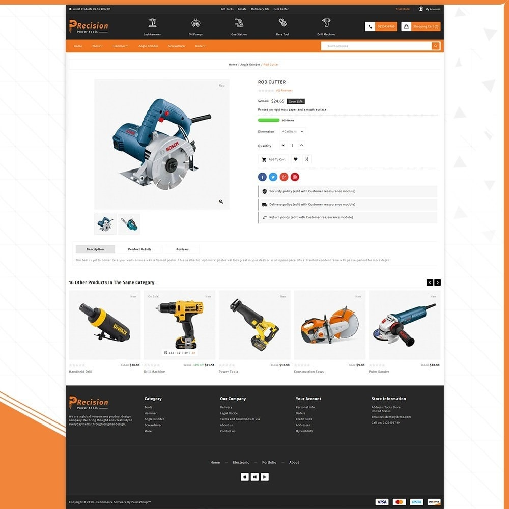 theme - Automotive & Cars - Outils Presicion - Tools & Machine Shop - 4