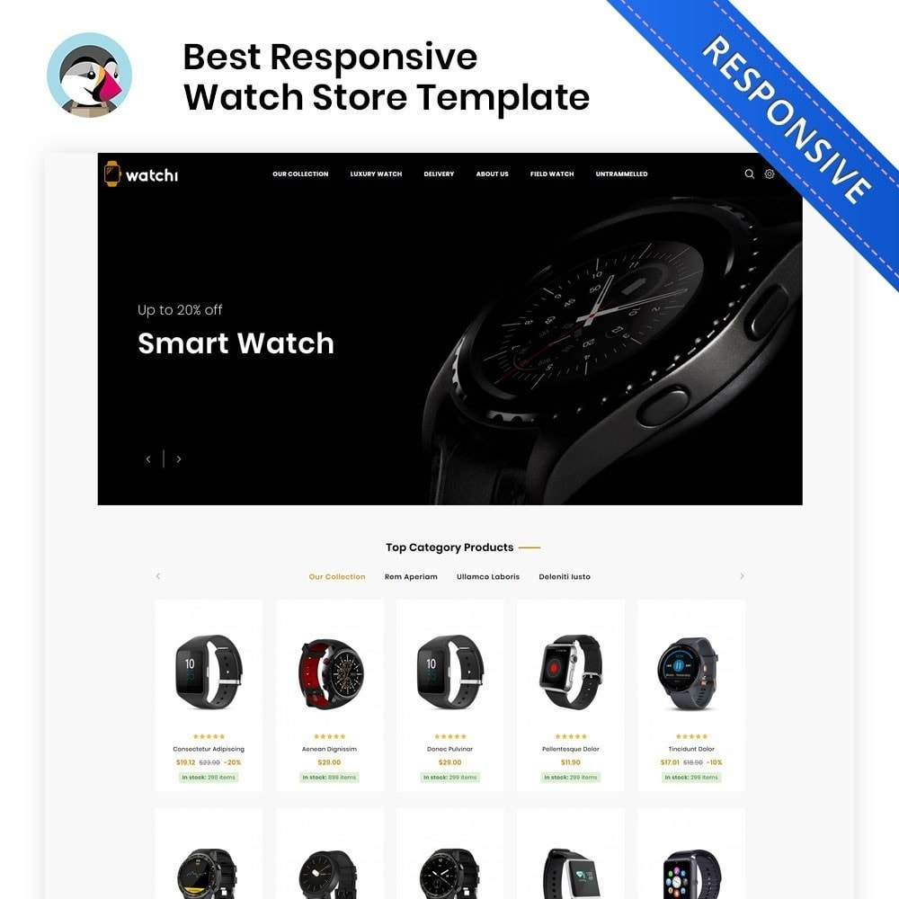 theme - Eletrônicos & High Tech - Watchi - The Watch Store - 1