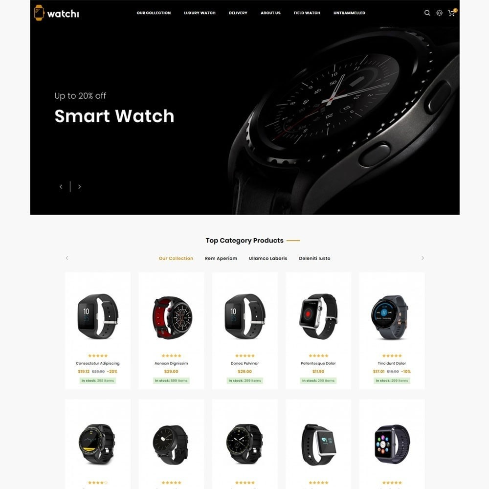 theme - Eletrônicos & High Tech - Watchi - The Watch Store - 3