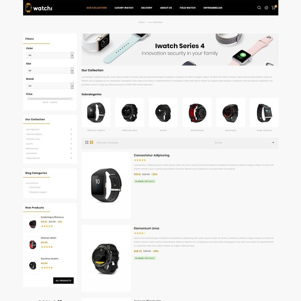 theme - Eletrônicos & High Tech - Watchi - The Watch Store - 5