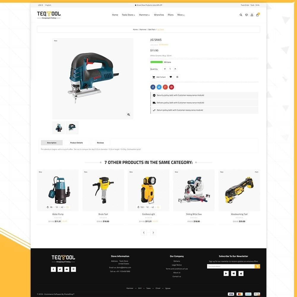 theme - Automotive & Cars - Teq Outils -Tools Store - 4