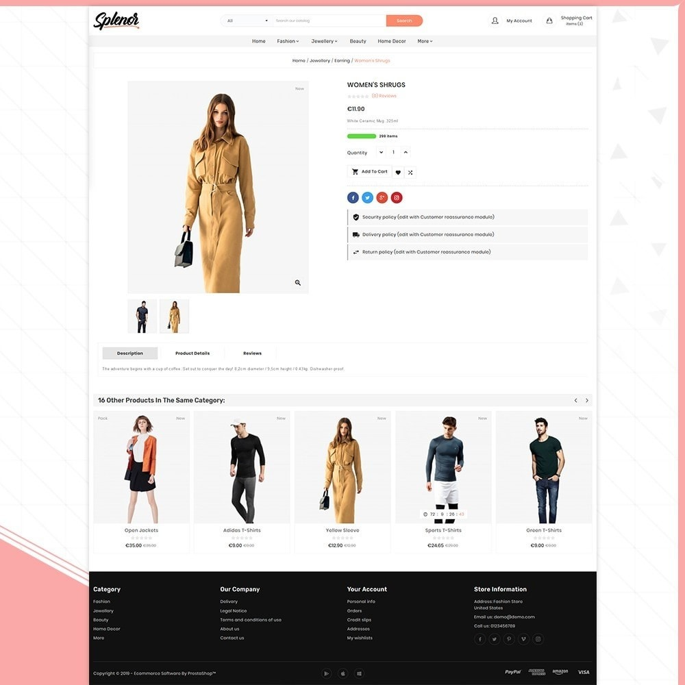 theme - Fashion & Shoes - Splenor - Fashion Style Shop - 4