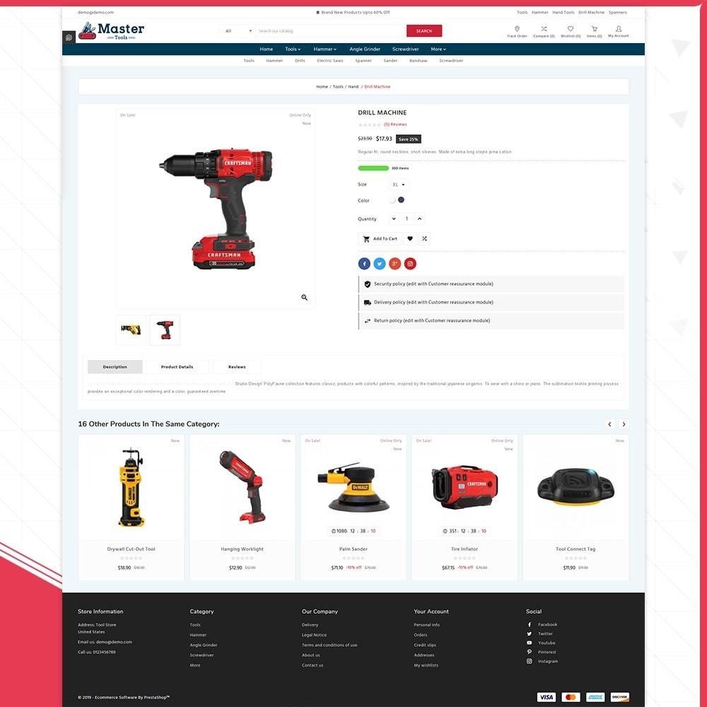 theme - Samochody - Master tools - Equipment Store - 4