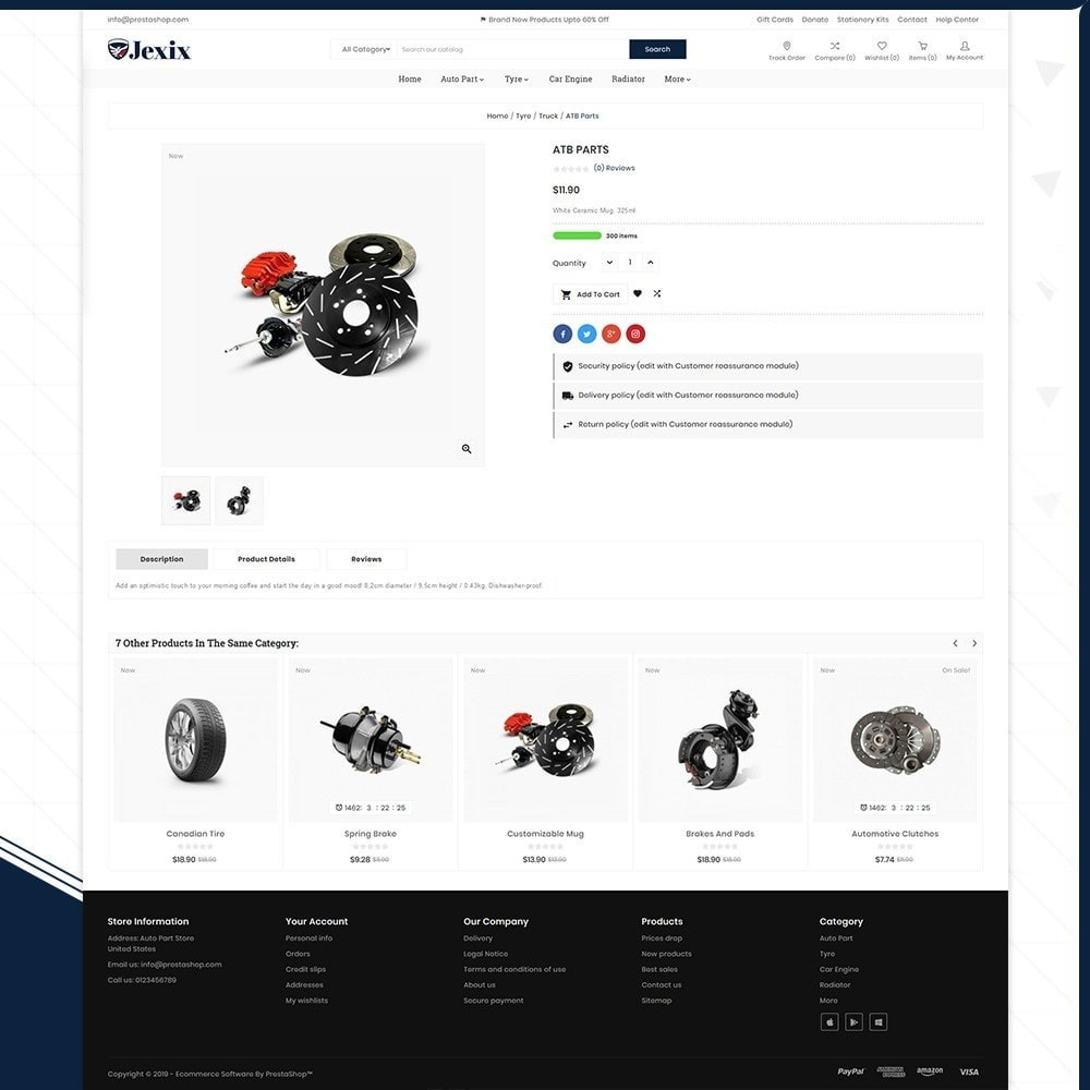 theme - Autos & Motorräder - Jexix  AutoPart - Auto Part Shop - 4