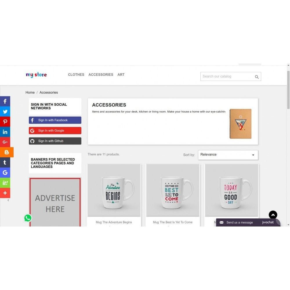 module - Boutons de Partage & Commentaires - AddThis Integration - Partage de contenu social - 3