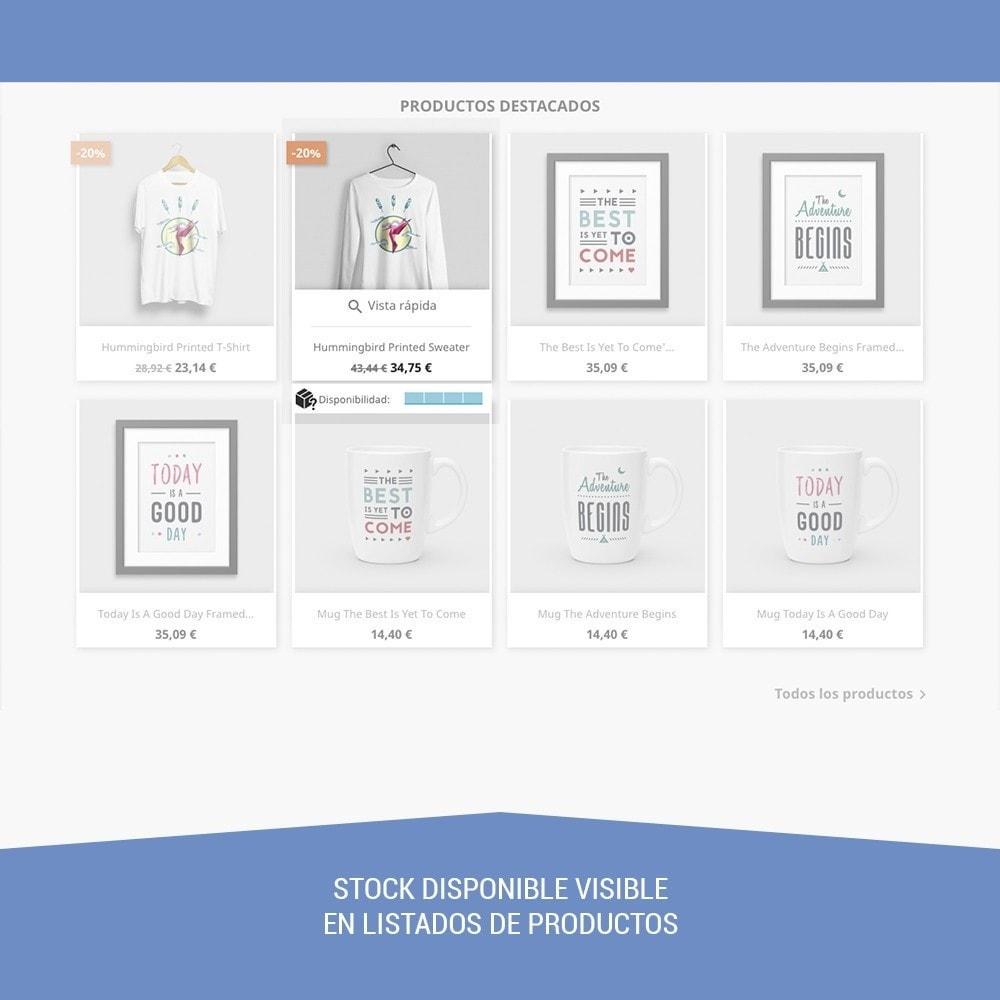 module - Informaciones adicionales y Pestañas - Stock de producto tiempo real - 2