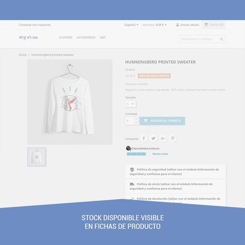 module - Informaciones adicionales y Pestañas - Stock de producto tiempo real - 4