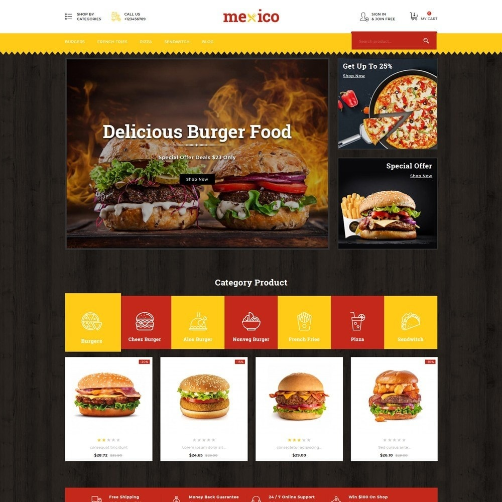theme - Alimentos & Restaurantes - Mexico Food Store - 2