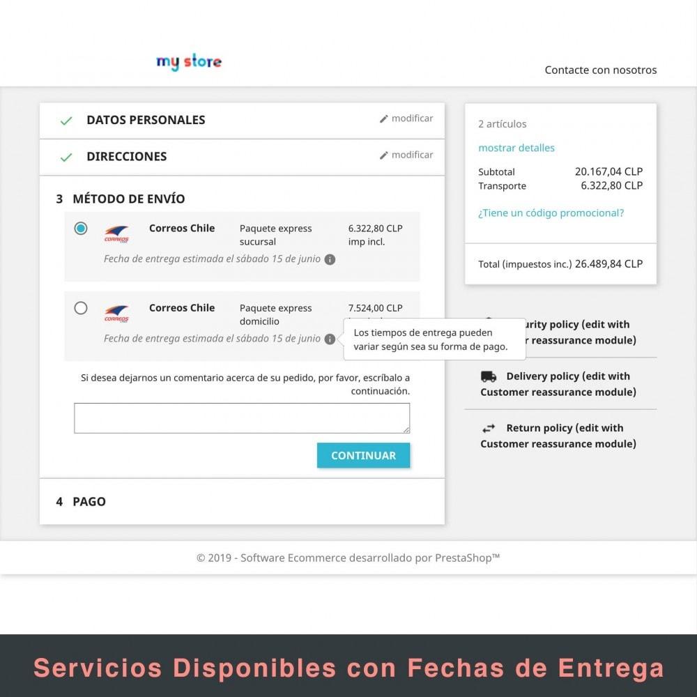 module - Verzendkosten - Correos Chile - 9
