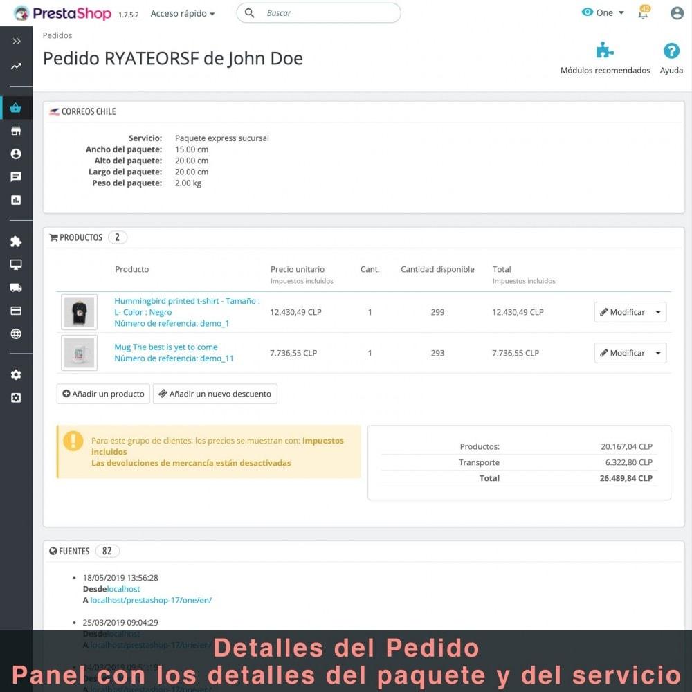 module - Verzendkosten - Correos Chile - 11