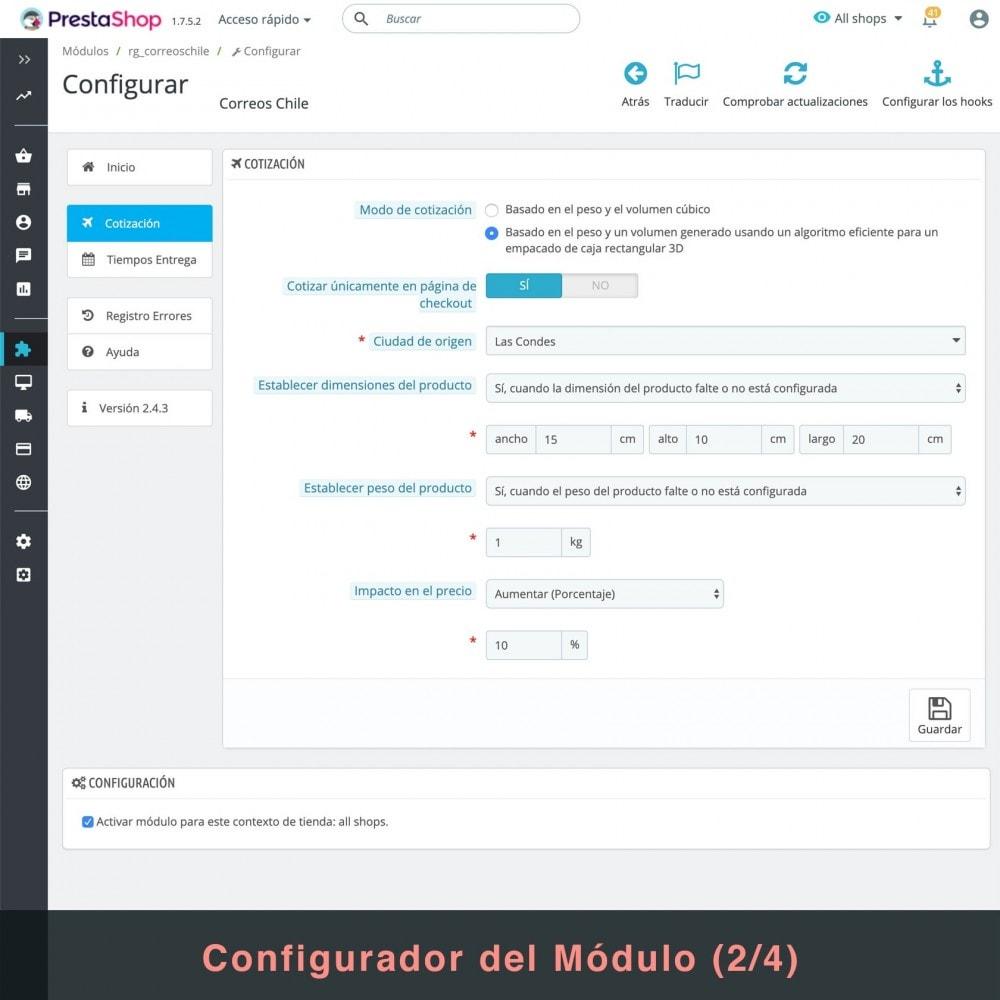 module - Gastos de transporte - Correos Chile - 4