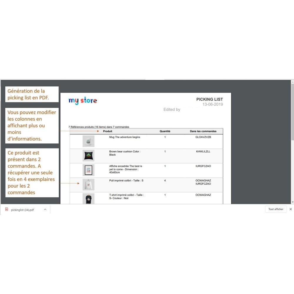 module - Préparation & Expédition - Pickinglist - liste des produits à expédier - 4